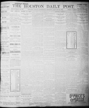 Primary view of object titled 'The Houston Daily Post (Houston, Tex.), Vol. NINTH YEAR, No. 286, Ed. 1, Wednesday, January 17, 1894'.