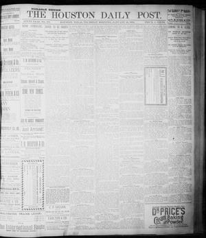 Primary view of object titled 'The Houston Daily Post (Houston, Tex.), Vol. NINTH YEAR, No. 287, Ed. 1, Thursday, January 18, 1894'.