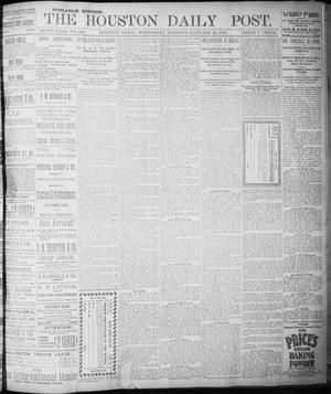 Primary view of object titled 'The Houston Daily Post (Houston, Tex.), Vol. NINTH YEAR, No. 293, Ed. 1, Wednesday, January 24, 1894'.
