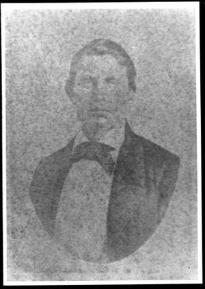Primary view of [Oval portrait of William Kinchen Davis with his hair parted]