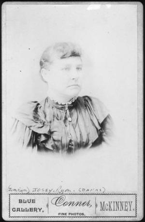 [Photograph of Josey (Dagnell) Ryon, wife of James E. (Jim) Ryon]