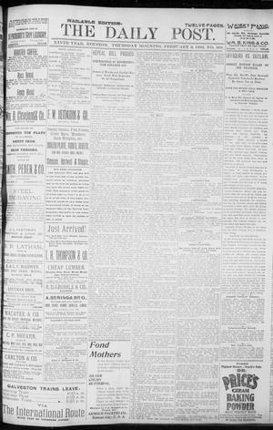 Primary view of object titled 'The Houston Daily Post (Houston, Tex.), Vol. NINTH YEAR, No. 308, Ed. 1, Thursday, February 8, 1894'.