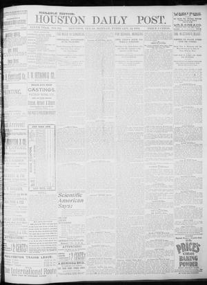 Primary view of object titled 'The Houston Daily Post (Houston, Tex.), Vol. NINTH YEAR, No. 312, Ed. 1, Monday, February 12, 1894'.