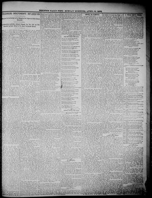 Primary view of object titled 'The Houston Daily Post (Houston, Tex.), Ed. 1, Sunday, April 10, 1898'.