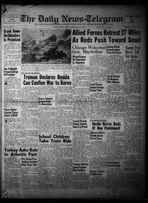 Primary view of The Daily News-Telegram (Sulphur Springs, Tex.), Vol. 53, No. 99, Ed. 1 Thursday, April 26, 1951