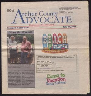 Primary view of object titled 'Archer County Advocate (Holliday, Tex.), Vol. 6, No. 16, Ed. 1 Thursday, July 24, 2008'.