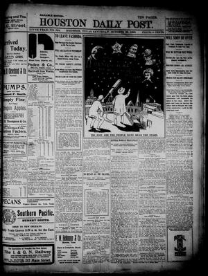 The Houston Daily Post (Houston, Tex.), Vol. XIVth Year, No. 210, Ed. 1, Saturday, October 29, 1898
