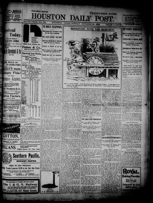 Primary view of object titled 'The Houston Daily Post (Houston, Tex.), Vol. XIVth Year, No. 211, Ed. 1, Sunday, October 30, 1898'.