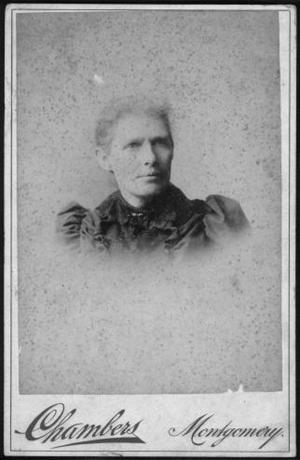 Primary view of object titled '[Photograph of Laura H. (Jones) Herbert]'.