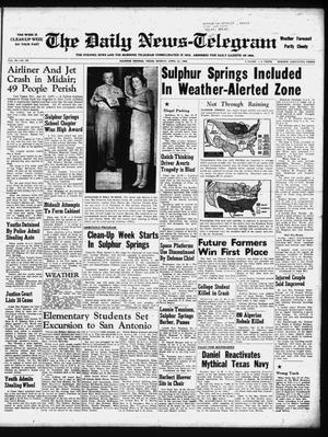 Primary view of object titled 'The Daily News-Telegram (Sulphur Springs, Tex.), Vol. 60, No. 93, Ed. 1 Monday, April 21, 1958'.