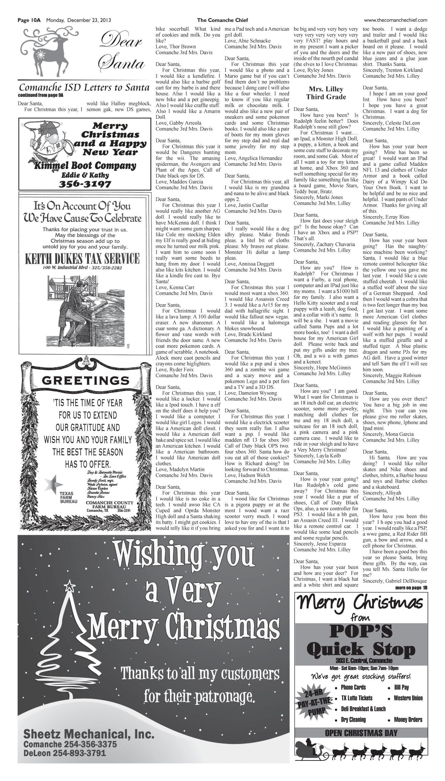 Comanche Chief (Comanche, Tex.), No. 36, Ed. 1 Thursday, December 26 ...