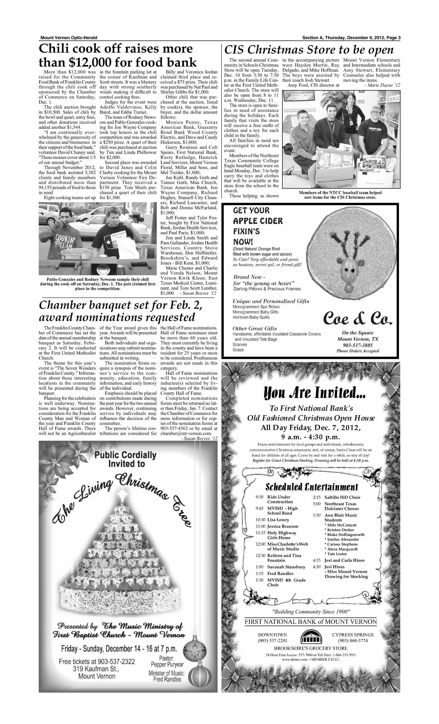 Mount Vernon Optic-Herald (Mount Vernon, Tex.), Vol. 139, No. 19, Ed ...