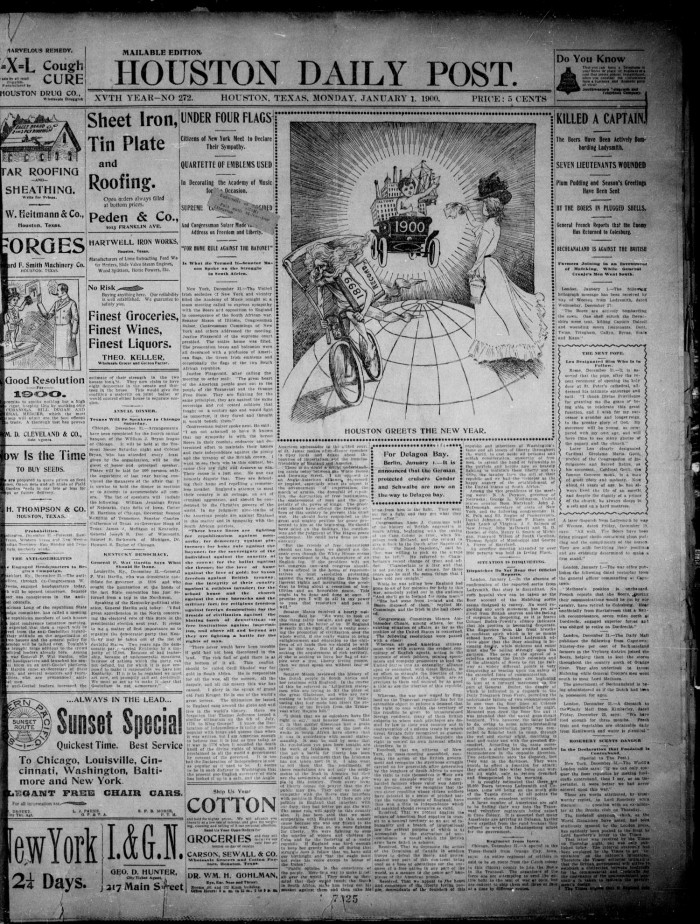 Primary view of object titled  The Houston Daily Post (Houston 0f750e1e5eb