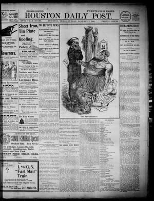 Primary view of object titled 'The Houston Daily Post (Houston, Tex.), Vol. XVth Year, No. 278, Ed. 1, Sunday, January 7, 1900'.