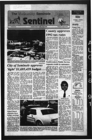 Primary view of object titled 'The Seminole Sentinel (Seminole, Tex.), Vol. 84, No. 87, Ed. 1 Wednesday, August 28, 1991'.