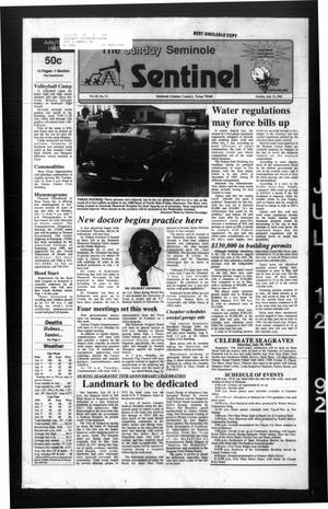 Primary view of object titled 'The Seminole Sentinel (Seminole, Tex.), Vol. 85, No. 74, Ed. 1 Sunday, July 12, 1992'.