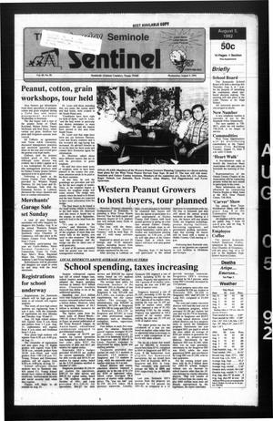 Primary view of object titled 'The Seminole Sentinel (Seminole, Tex.), Vol. 85, No. 81, Ed. 1 Wednesday, August 5, 1992'.