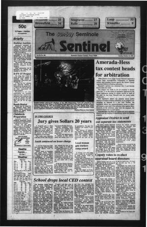Primary view of object titled 'The Seminole Sentinel (Seminole, Tex.), Vol. 84, No. 100, Ed. 1 Sunday, October 13, 1991'.
