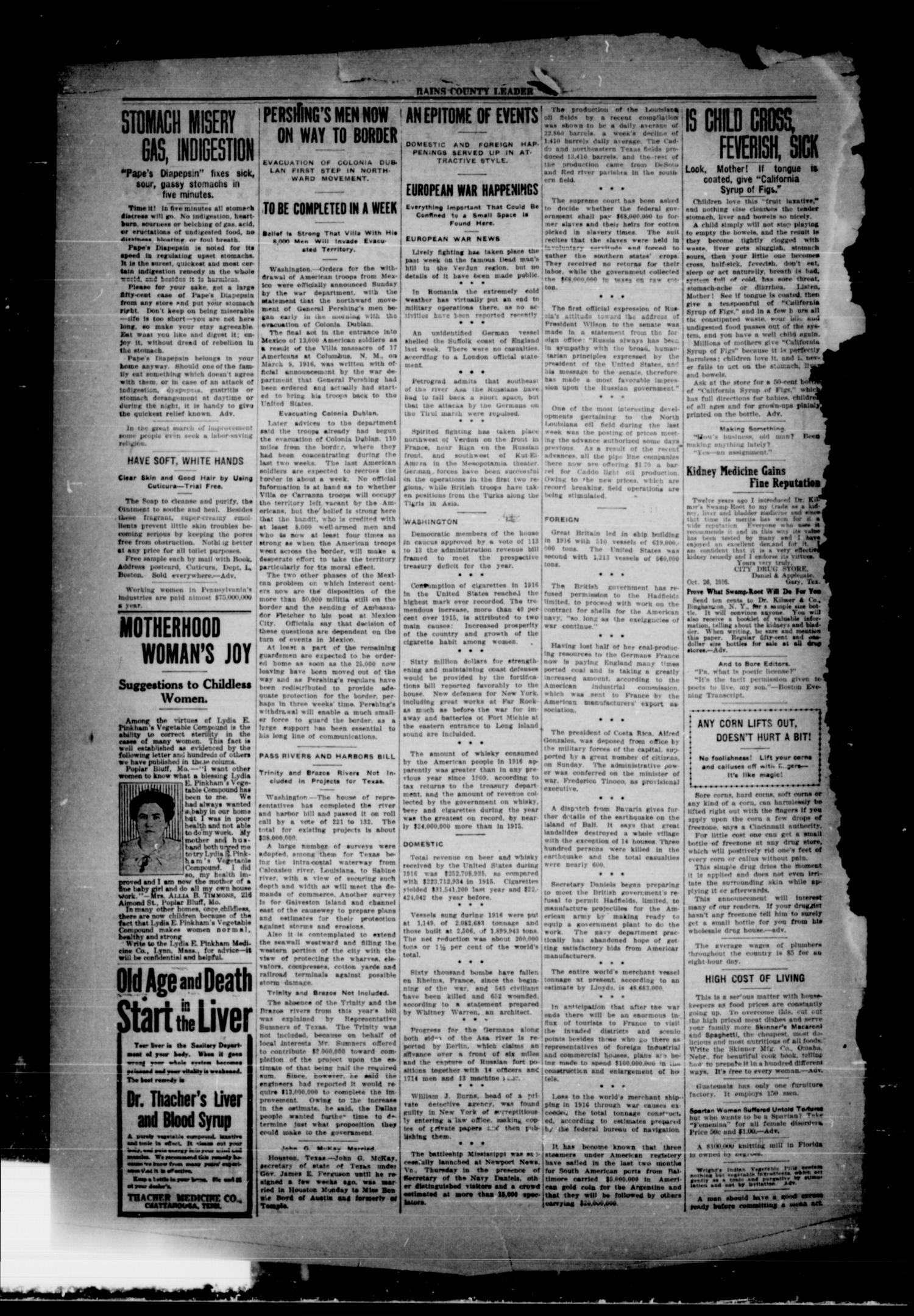 Rains County Leader (Emory, Tex.), Vol. 30, No. 5, Ed. 1 Friday, February 2, 1917                                                                                                      [Sequence #]: 2 of 8