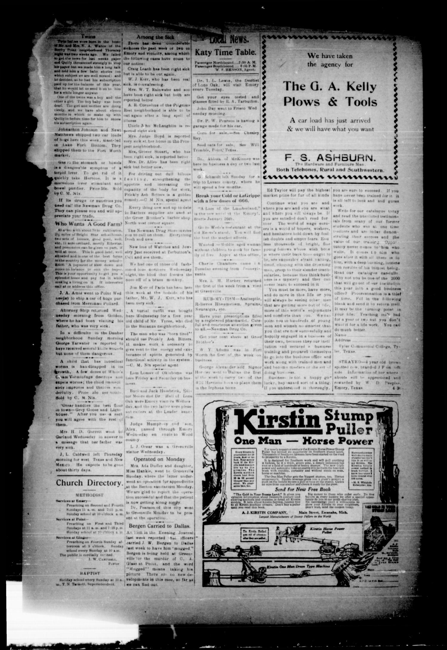 Rains County Leader (Emory, Tex.), Vol. 30, No. 5, Ed. 1 Friday, February 2, 1917                                                                                                      [Sequence #]: 3 of 8