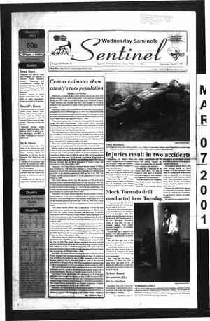 Primary view of object titled 'Seminole Sentinel (Seminole, Tex.), Vol. 94, No. 41, Ed. 1 Wednesday, March 7, 2001'.