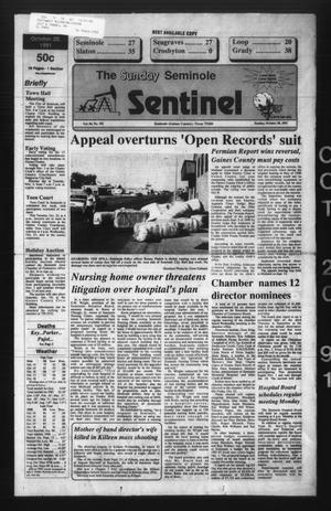 Primary view of object titled 'The Seminole Sentinel (Seminole, Tex.), Vol. 84, No. 102, Ed. 1 Sunday, October 20, 1991'.