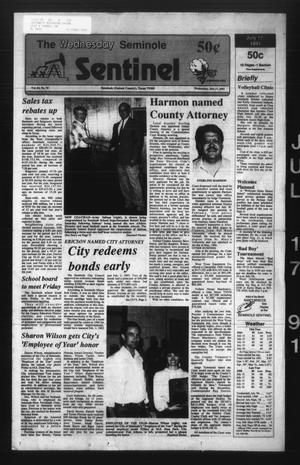 Primary view of object titled 'The Seminole Sentinel (Seminole, Tex.), Vol. 84, No. 75, Ed. 1 Wednesday, July 17, 1991'.