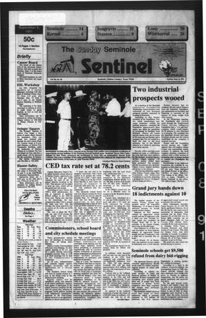 Primary view of object titled 'The Seminole Sentinel (Seminole, Tex.), Vol. 84, No. 90, Ed. 1 Sunday, September 8, 1991'.