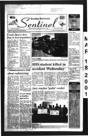 Primary view of object titled 'Seminole Sentinel (Seminole, Tex.), Vol. 94, No. 44, Ed. 1 Sunday, March 18, 2001'.