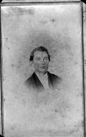 Primary view of object titled '[Bust photograph of a young man wearing a dark jacket]'.
