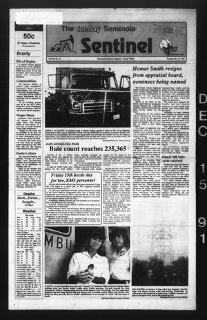 Primary view of object titled 'The Seminole Sentinel (Seminole, Tex.), Vol. 85, No. 14, Ed. 1 Sunday, December 15, 1991'.
