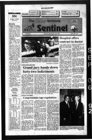 Primary view of object titled 'The Seminole Sentinel (Seminole, Tex.), Vol. 85, No. 90, Ed. 1 Sunday, September 6, 1992'.