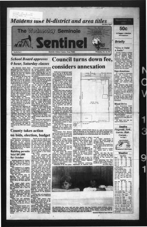 Primary view of object titled 'The Seminole Sentinel (Seminole, Tex.), Vol. 85, No. 5, Ed. 1 Wednesday, November 13, 1991'.