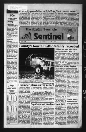 Primary view of object titled 'The Seminole Sentinel (Seminole, Tex.), Vol. 84, No. 76, Ed. 1 Sunday, July 21, 1991'.