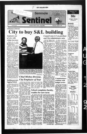 Primary view of object titled 'The Seminole Sentinel (Seminole, Tex.), Vol. 85, No. 83, Ed. 1 Wednesday, August 12, 1992'.