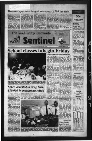 Primary view of object titled 'The Seminole Sentinel (Seminole, Tex.), Vol. 84, No. 85, Ed. 1 Wednesday, August 21, 1991'.