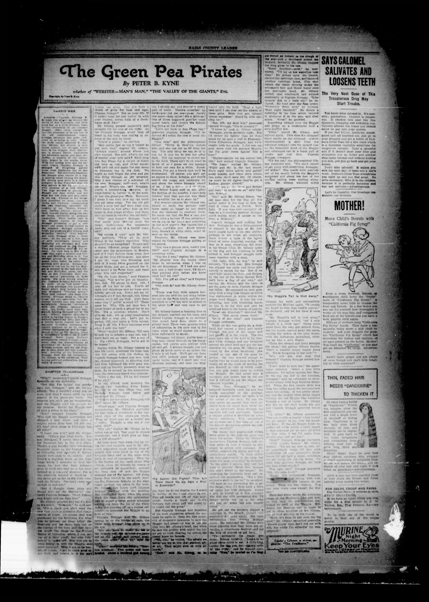 Rains County Leader (Emory, Tex.), Vol. 33, No. 1, Ed. 1 Friday, January 6, 1922                                                                                                      [Sequence #]: 3 of 14