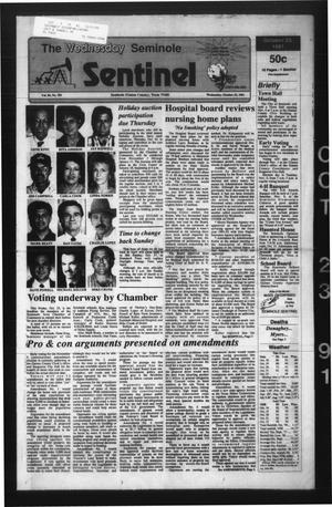 Primary view of object titled 'The Seminole Sentinel (Seminole, Tex.), Vol. 84, No. 103, Ed. 1 Wednesday, October 23, 1991'.