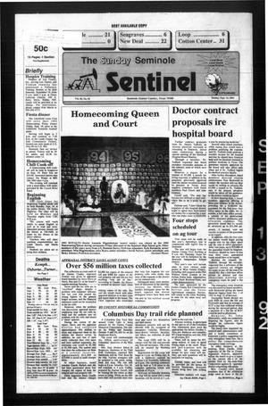 Primary view of object titled 'The Seminole Sentinel (Seminole, Tex.), Vol. 85, No. 92, Ed. 1 Sunday, September 13, 1992'.