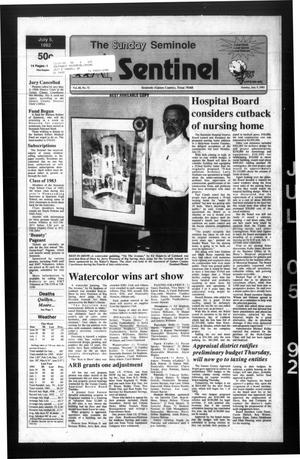 Primary view of object titled 'The Seminole Sentinel (Seminole, Tex.), Vol. 85, No. 72, Ed. 1 Sunday, July 5, 1992'.
