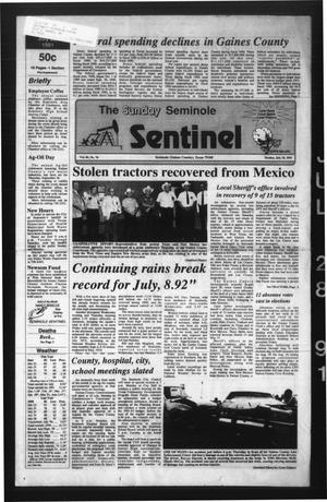 Primary view of object titled 'The Seminole Sentinel (Seminole, Tex.), Vol. 84, No. 78, Ed. 1 Sunday, July 28, 1991'.