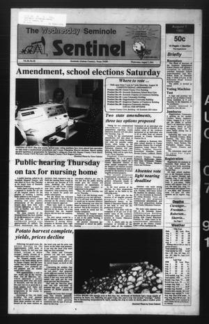 Primary view of object titled 'The Seminole Sentinel (Seminole, Tex.), Vol. 84, No. 81, Ed. 1 Wednesday, August 7, 1991'.