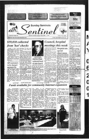 Primary view of object titled 'Seminole Sentinel (Seminole, Tex.), Vol. 94, No. 58, Ed. 1 Sunday, May 6, 2001'.