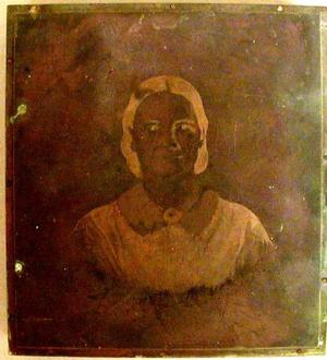 Primary view of object titled '[Copperplate image of Mrs. Jane Green]'.