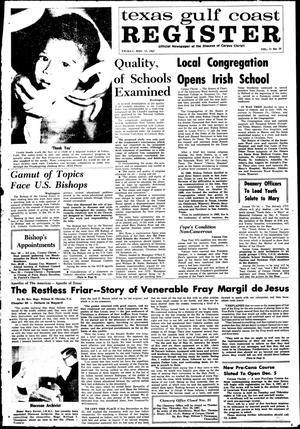 Primary view of object titled 'Texas Gulf Coast Register (Corpus Christi, Tex.), Vol. 2, No. 29, Ed. 1 Friday, November 17, 1967'.