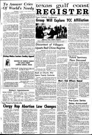 Primary view of object titled 'Texas Gulf Coast Register (Corpus Christi, Tex.), Vol. 1, No. 42, Ed. 1 Friday, February 24, 1967'.