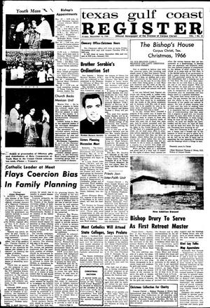 Primary view of object titled 'Texas Gulf Coast Register (Corpus Christi, Tex.), Vol. 1, No. 33, Ed. 1 Friday, December 16, 1966'.