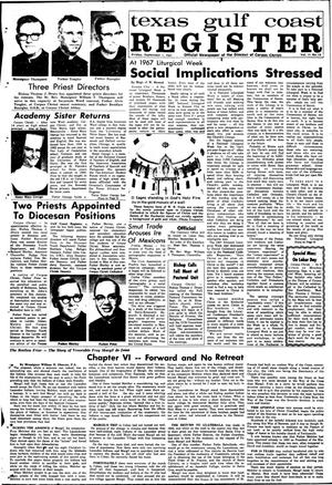 Primary view of object titled 'Texas Gulf Coast Register (Corpus Christi, Tex.), Vol. 2, No. 18, Ed. 1 Friday, September 1, 1967'.