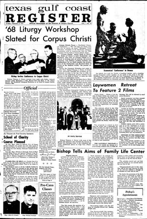Primary view of object titled 'Texas Gulf Coast Register (Corpus Christi, Tex.), Vol. 1, No. 39, Ed. 1 Friday, February 3, 1967'.