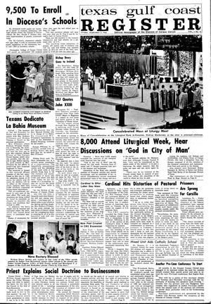Primary view of object titled 'Texas Gulf Coast Register (Corpus Christi, Tex.), Vol. 1, No. 18, Ed. 1 Friday, September 2, 1966'.